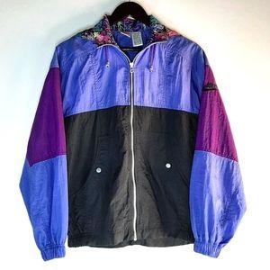 Nike Vintage 90s Zip Up Hooded Track / Rain Jacket